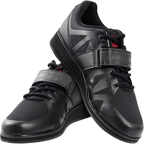 Nordic Lifting Powerlifting Shoes for Heavy Weightlifting - Men's Squat Shoe - MEGIN (Black, 10 US)