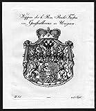 Wappen des h. Röm. Reichs Fürsten von Grafsalkovis in Ungarn - Grassalkovich Ungarn Hungary Wappen Adel coat of arms heraldry Heraldik Kupferstich