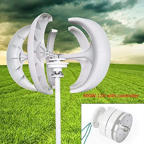 FLYHERO Wind Turbine Generator 5 Blades Wind Turbine Lanterns Generator Vertical Axis Controller product image