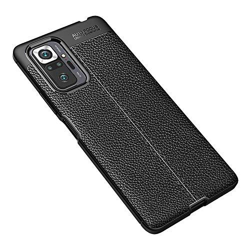 Xiaomi Redmi Note 10 Pro用 シンプル ケース/カバー TPU カーボン調 耐衝撃 シャオミ 小米 リドミーノート10 プロ 頑丈ケース/カバー ケース おしゃれ スマートフォン/スマフォ/スマホケース/カバー(ブラック)