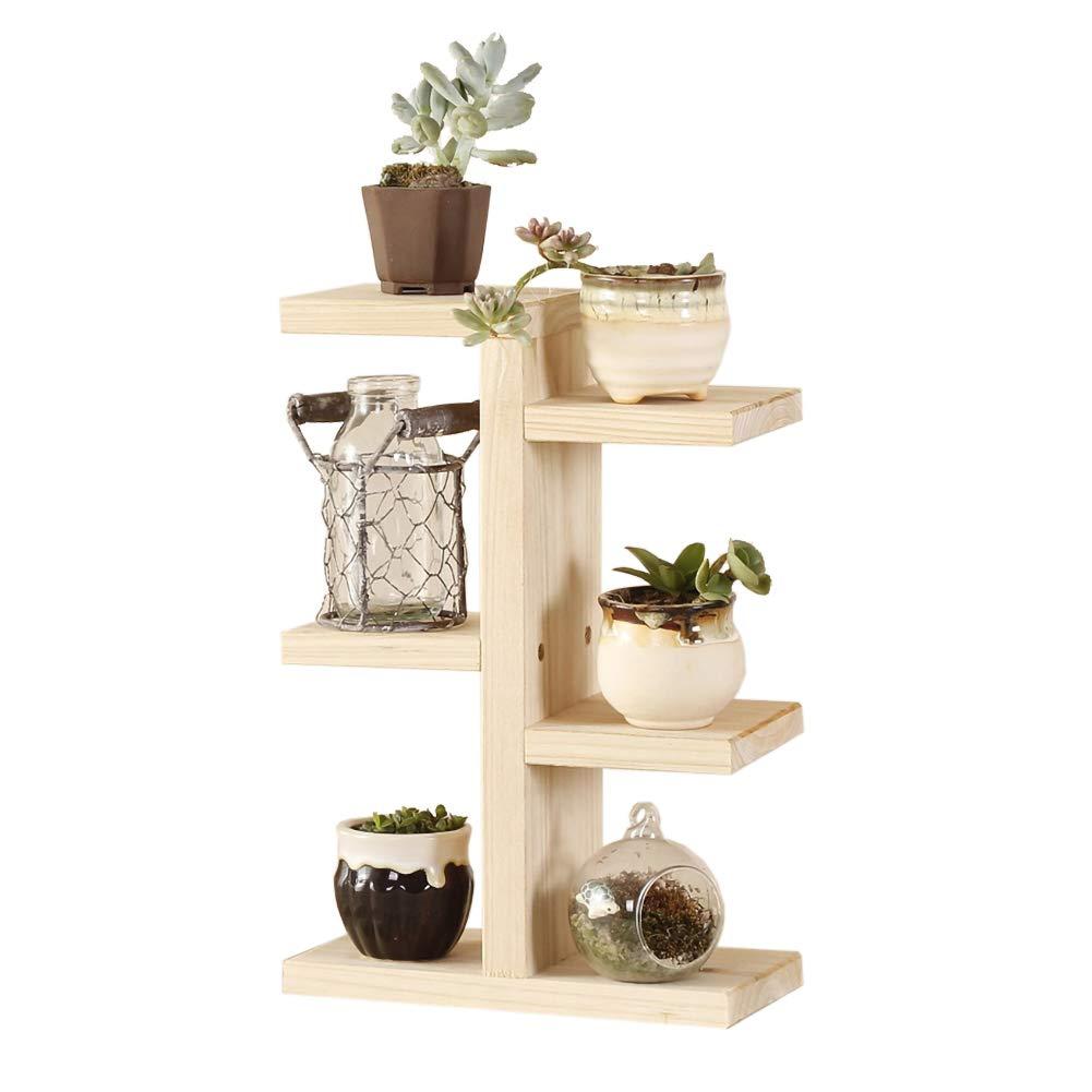 Blanketswarm - Estante de madera para plantas, soporte para macetas de flores, soporte de escritorio, 3 niveles, estante de almacenamiento para decoración de interiores y exteriores: Amazon.es: Hogar
