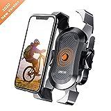 Soporte Movil Bicicleta,JOYROOM Anti Vibración Soporte Movil Bici Montaña con 360° Rotación para Moto Cochecito, Universal Manillar para iPhone 11 Pro Max/11 Pro/11/X/8, Samsung y 4'-7' Smartphones