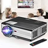 Movie Projector, EUG 4200 Lumen LCD Digital Home Theater Projector with HDMI Screen Zoom Keystone Max 200' Support 1080P HD LED Video Proyector for TV Games Art Outdoor Entertainment Bluray DVD Roku