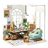 Robotime DIY Miniatur Haus Puppenhaus Kit für Erwachsene - Creative Mini Studio Room für Mädchen...