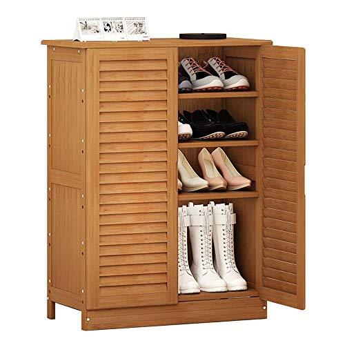 ShiSyan Bastidores de zapatos de múltiples funciones simple de madera multi-capa sólida de bambú zapatero Sala Porche ahorro de espacio Fácil Ensamble (Color: Nogal, Tamaño: 66 * 33.5 * 87cm) Armarios