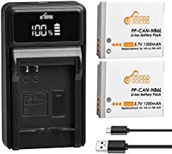 Pickle Power NB-6L NB-6LH Batteries and LED Battery Charger Replacement for Canon PowerShot SX530 HS, SX710 HS, SX700 HS, SX610 HS, SX600 HS, SX540 HS, SX510 HS, SX500 is, SX280 HS, SX270 HS, D30, S90