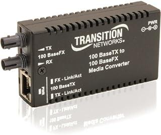 Transition Networks StandAlone Mini Fast Ethernet Fiber Media Converter 100MB LAN (M/E-TX-FX-01-NA)