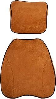 Qiilu Cojín lumbar, Coche General Espuma de memoria Soporte para el cuello Soporte para el reposacabezas Almohada Lumbar Cintura Cojín Volver