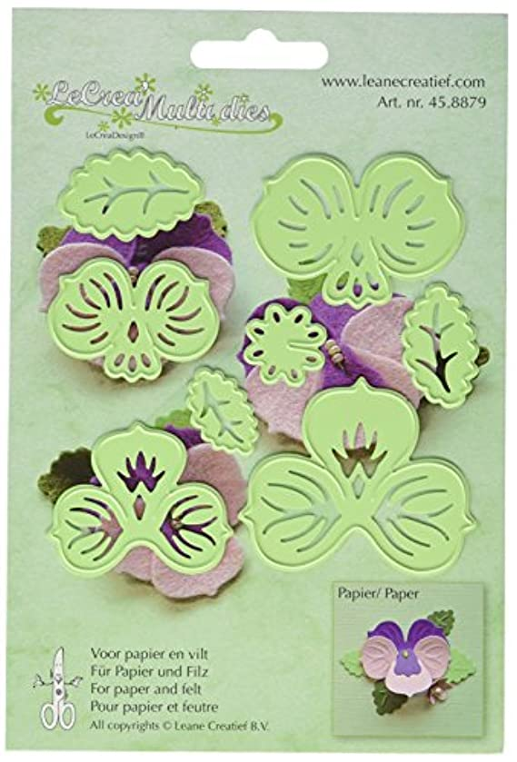 Ecstasy Crafts Lea'bilities Cut and Emboss Dies, 2.25 by 2.25-Inch, Multi Flower 3-Pansy