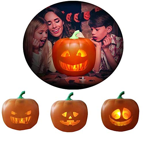 FIRSS Halloween Kürbislaterne Beamer, Kürbis Beamer, 3 Ausdruck in 1Nachtlicht, Kinder Geschenk, Dauerhaft Kinderlichter, 1Stücke mit Box (Kürbis, One Size)