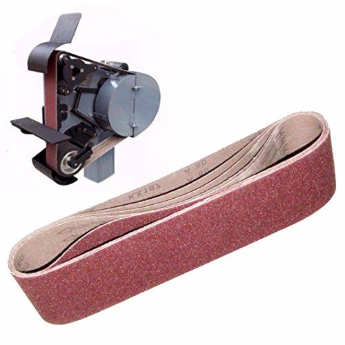 JINYIWEN Schuurband 4-delig Power Dremel-accessoires 100x915 mm Schuurschuurkorrel 40 60 80 120 Aluminiumoxide schuurbanden
