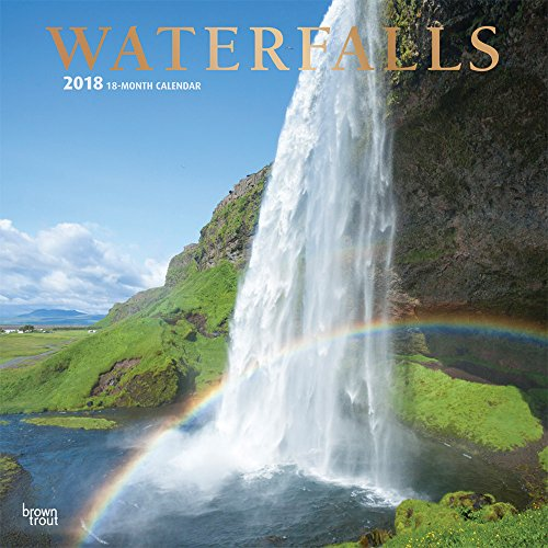Waterfalls 2018 12 x 12 Inch Monthly Square Wall Calendarwith Foil Stamped Cover by Plato, Nature Waterfalls (Multilingual Edition)