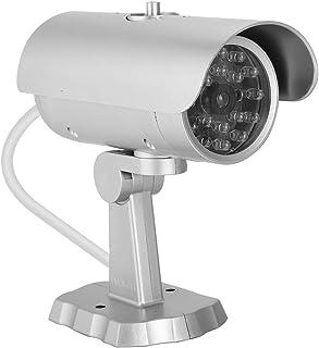 Cámara de balas falsa MR-1900 Cámara simulada para exterior/interior cámara de seguridad de vigilancia con luces LED parpadeantes