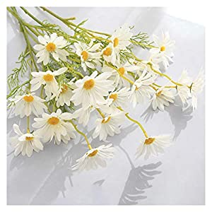 dxm Artificial Daisies, 5 Holland Chrysanthemums, and Cosmos Flowers, Which are Easy to Care for and Use for A Long Time, for Wedding Home Photography Props, Artificial Flowers Chamomile (Pink)