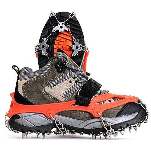 LANGTAO Crampones Cubierta Antideslizante de Zapatos, Puntos Pinzas Dentadas Crampones Escalada, Crampones Antideslizantes, Racos de Hielo Tracción Antideslizante