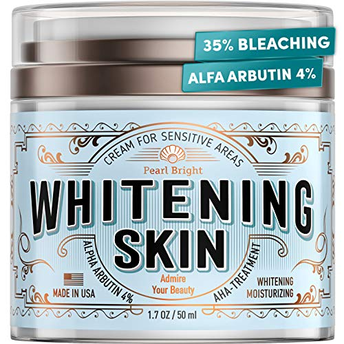 Whitening Cream for Sensitive Areas - Made in USA - Natural Bleaching Cream for Whitening Skin - Dark Spot Remover for Intimate Parts with Alpha Arbutin - Underarm Skin Lightening - Fairness Cream