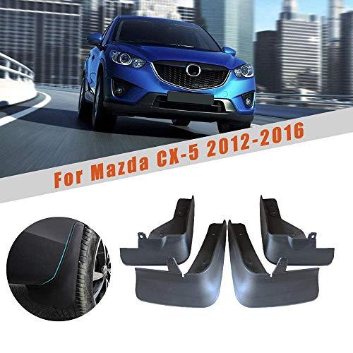 Gemmry 4 Stück Auto Schmutzfänger, ABS-Kunststoff Vorne und Hinten Kotflügel Spritzschutz Kit für Mazda CX-5 2012-2016 Car Karosserie-Styling