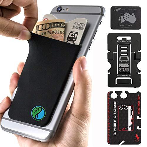 The Gecko Adhesive Card Wallet for Cell Phones, Ultra Slim & Custom Designed (Naturaleza Yin Yang)