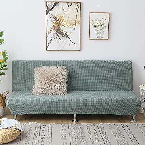 C/N Funda de sofá Cama Clic clac Plegable elástico Fundas de sofá sin Brazos Funda de sofá elástica sin Brazos Funda Clic clac 2 Plaza Verde Matcha