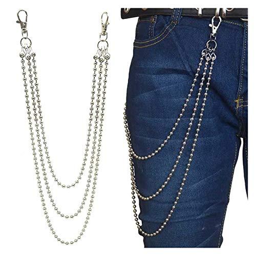 Personalità della moda Donne da donna Punk Hip Hop Fashion Belt Cintura in vita Catena multistrato Pantaloni da uomo Pantaloni da uomo Jeans Punk Silver Metal Big Loop Pants Chain Accessori per vestit