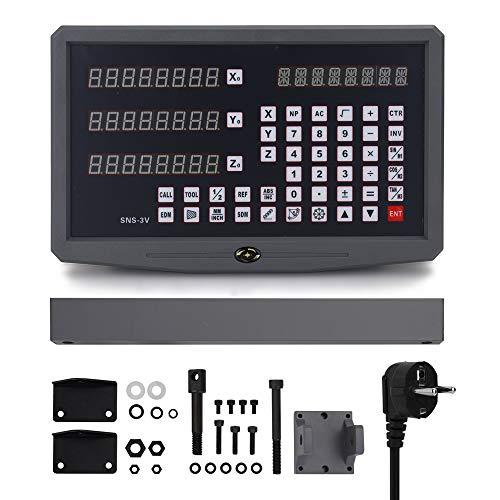 KKmoon Drehmaschine Digitalanzeige Gitter CNC Fräsen Digitalanzeige Fräsmaschine Bedienfeld Messgeräte für Drehmaschine Fräsmaschine