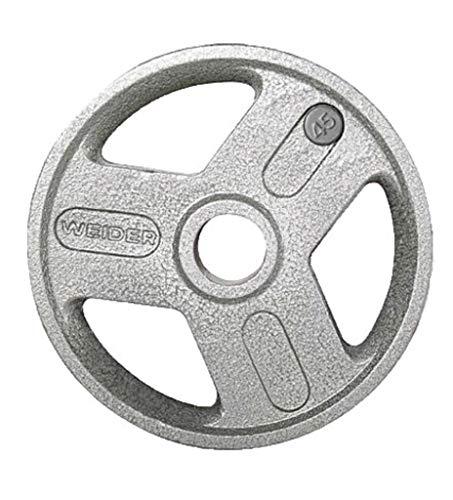 Weider Strength 45 Lb. Hammertone Olympic Plate, Gray