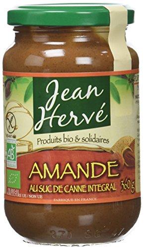 Jean Hervé - BIO Purée d'Amandes au Suc de Canne Intégral 360 g - Lot de 2