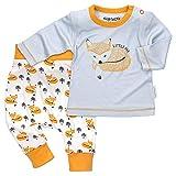 Baby Sweets Unisex 2er Baby-Set mit Hose & Shirt für Mädchen & Jungen/Baby-Erstausstattung in Orange, Weiß & Grau im Fuchs-Design/Baby-Kleidung Neugeborenen-Set aus Bambus/Größe 6-9 Monate (74)
