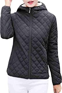 Women's Classic Fit Long Sleeve Thicken Coats Hooded Windproof Puffer Jacket