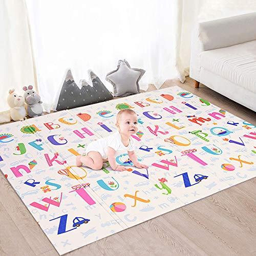 Faburo Baby Spielmatte Babymatte Verdickte Krabbelmatte Faltbar Baby Bodenmatte Wasserdicht für Baby Kinder