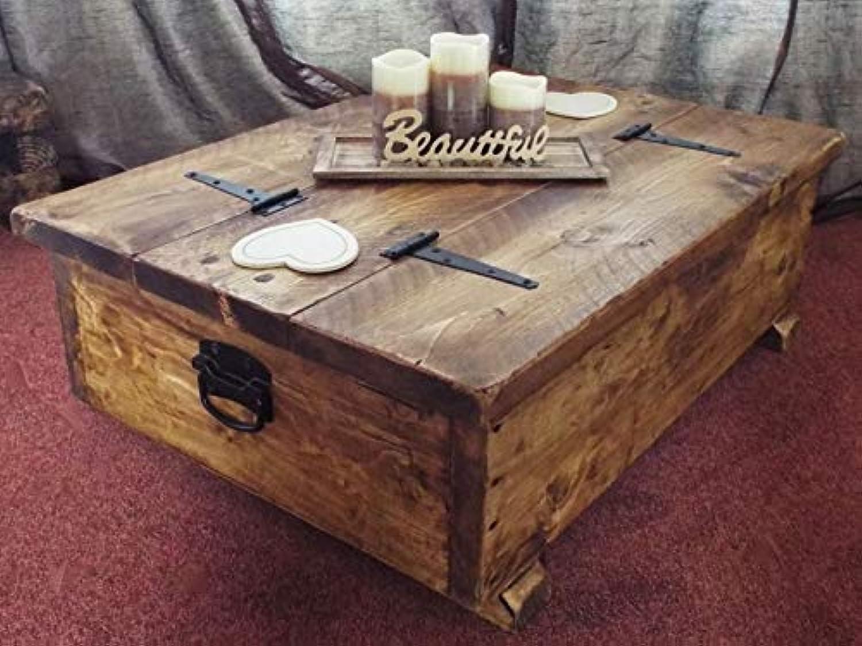 Couchtisch Aufbewahrungsbox Holz Plank Rustikale Decke Truhe Spielzeug