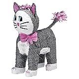 amscan Piñata Katze (grau)
