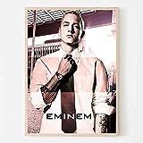 WDQFANGYI Póster De Eminem Lienzo Rapero Estrella Collage Póster E Impresión Arte Cuadro De Pared Sala De Estar Decoración del Hogar 50X70Cm (Sh-3954)