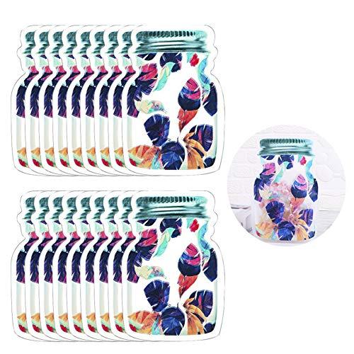 Enkrio 18 Pcs Large Mason Jar Zipper Bags Reusable Jar Bags Mason Reusable Food Storage Bags Sandwich Bags Ziplock Bags for Kitchen Camping Picnic Organizer (18Large)