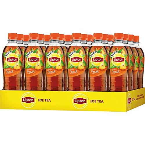 24 Flaschen Pet Lipton Ice Tea Peach Eistee 0.5L Eisteegetränk mit erfrischendem Pfirsichgeschmack inc. 6.00€ EINWEG Pfand