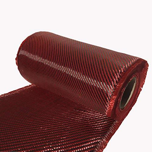 4' x 10 FT Red - Kevlar FABRIC-2x2 Twill WEAVE-3K/220g