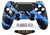 Blue Splatter with Illuminating Thumb-Sticks PS4 PRO Smart Rapid Fire Modded Controller Mods for FPS All Major Shooter Games Warzone & More (CUH-ZCT2U)