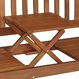 Gartenbank 3-Sitzer 158x59x90cm Holz Eukalyptus FSC Klapptisch - 2
