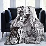 Hange Zoe Attack On Titan Fleece Throw Blanket Ultra-Soft Lightweight Warm Plush Flannel Luxury Cozy Blanket for Couch, Bed, Sofa, Travel All Seasons S 50' x40 for Kid