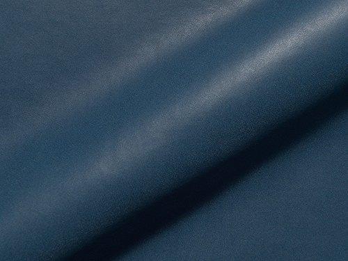 Lederhandel.com Tela de piel sintética ignífuga Florenz 371, color azul, tela de tapicería adecuada para el salón y el área de objetos.