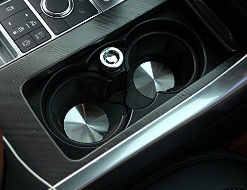 Edelstahl Cup Holder Abdeckung Mat Trim für XE XF XJL XFL F-Tempo Range Rover Sport Vogue Discovery Sport Discovery 4 LR5