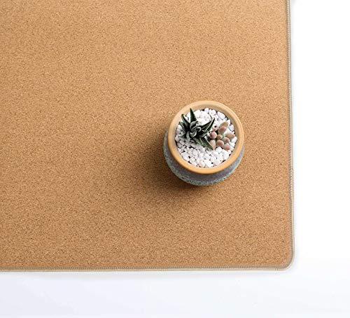 "YSAGi Multifunctional Office Writing Cork Desk Pad, Waterproof & Slipproof Desk Protector Mat for Office/Home (23.6""x11.8"") Photo #5"
