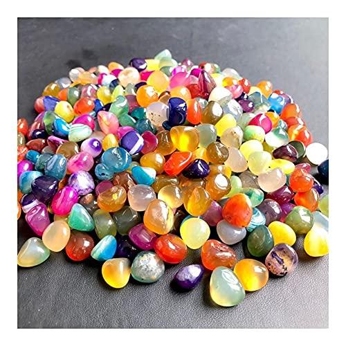 GOSOU Ingredientes Naturales Aquario de Piedra Natural Decoración del Tanque de Pescado Agata de Cristal Grava de guijarros de Colores