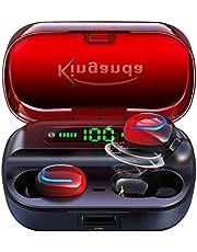 ワイヤレスイヤホン 5.0 HiFi高音質 Bluetooth イヤホンLEDディスプレイ 自動電源オン/オフ 3500mAh充電ケース付き ワイヤレス イヤホン 自動ペアリング IPX7防水 左右分離型イヤフォン イヤホンbluetooth 軽量3.7g 片耳/両耳 CVC8.0イズキャンセリング AAC対応 技適認証済 日本語説明書 ブルートゥース イヤホン