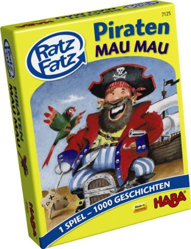 HABA 7125 - Ratz Fatz Piraten-Mau Mau, Kartenspiel