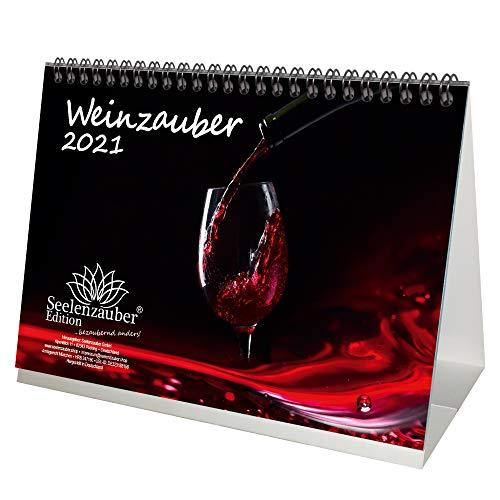 Weinzauber DIN A5 Tischkalender für 2021 Wein und Weinberge - Seelenzauber