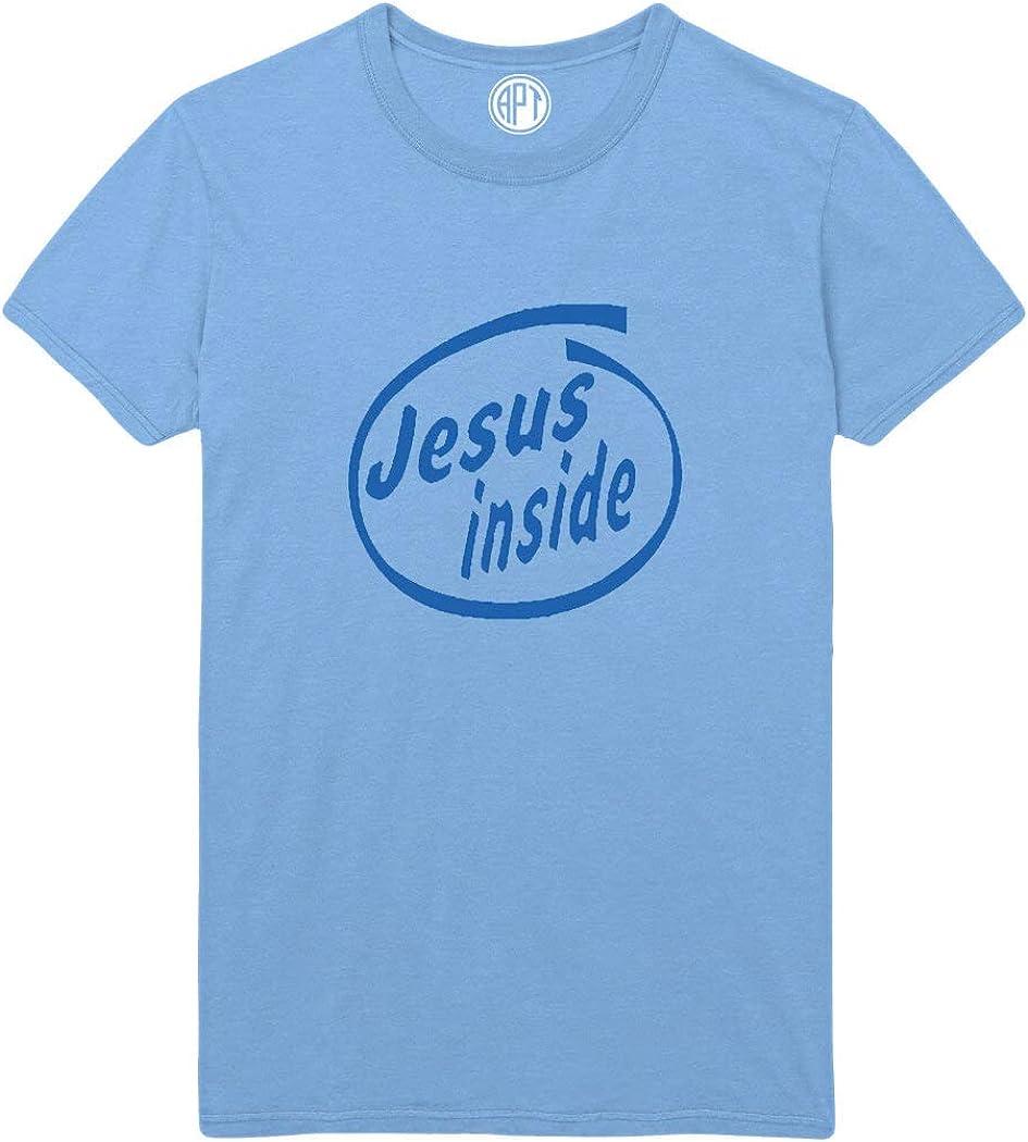 Jesus Inside Printed T-Shirt - Light-Blue - 2XL