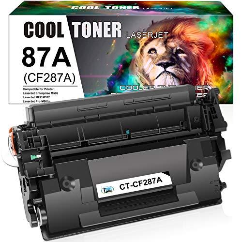 Cool Toner Compatible Toner Cartridge Replacement for HP 87A CF287A 87X CF287X M506 Toner HP Laserjet Enterprise M501dn M527 M501 M506dn M506N M506X MFP M527dn M527c M527z Printer Ink (Black, 1-Pack)