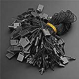 ZHONGJIUYUAN 1000pcs (negro) etiqueta colgante cuerda 7 pulgadas Nylon Hang Tag...