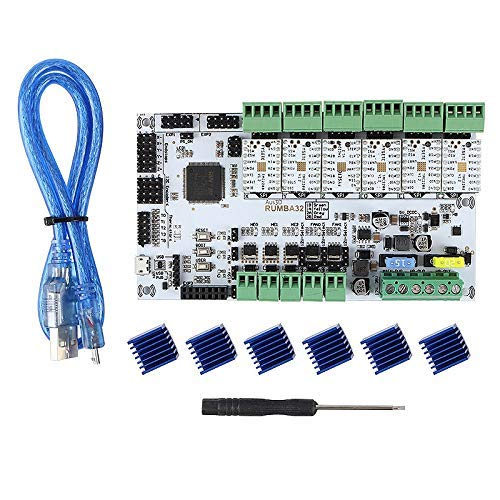 BXU-BG 3D Printer Accessories RUMBA32-Bit Motherboard + TMC2208x6 Silent Driver Kit Marlin 2.0